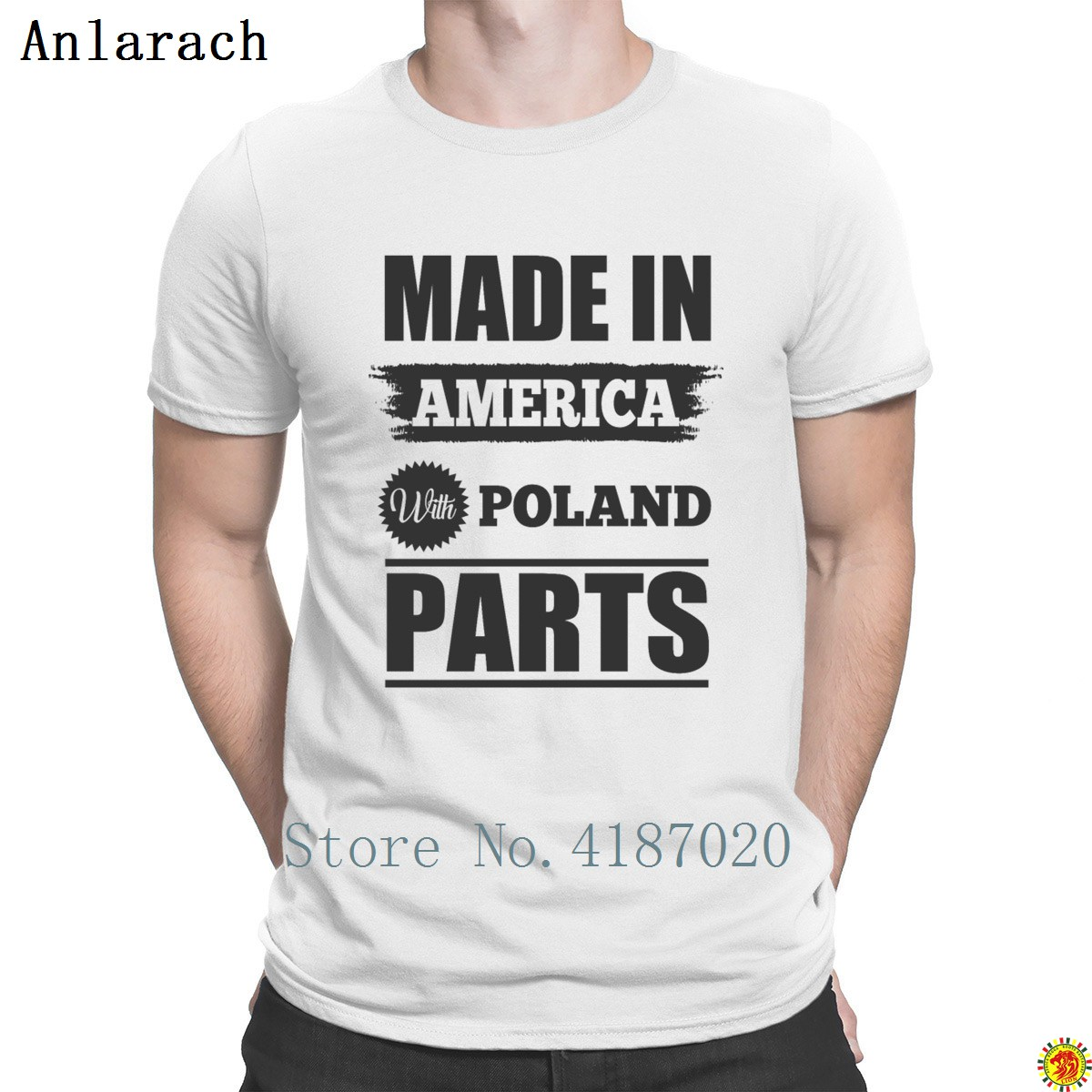 Poland Parts Made In America T Shirt Best Tops Cheap Summer Style Men's T Shirt Knitted Slim Slogan Tee Shirt 100% Cotton image