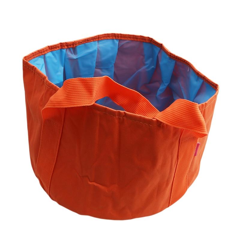 15L Portable Water Pot Outdoor Camping Hiking Picnic Travel Water Holder Bag Outdoor Folding Washing Basin Handle Bucket