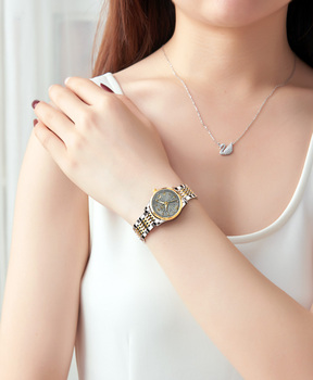 Watches for women automatic watch mechanical watch ladies Luxury brand Stainless steel calendar waterproof diving Elegant watch loreo authentic automatic mechanical watch waterproof belt diamond fashion luxury elegant hollow lady watch