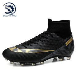 Hot Sale High Ankle Soccer Shoes Outdoor Non-Slip FG/TF Football Boots Large Size Ultralight Soccer Cleats Football Sneakers Men