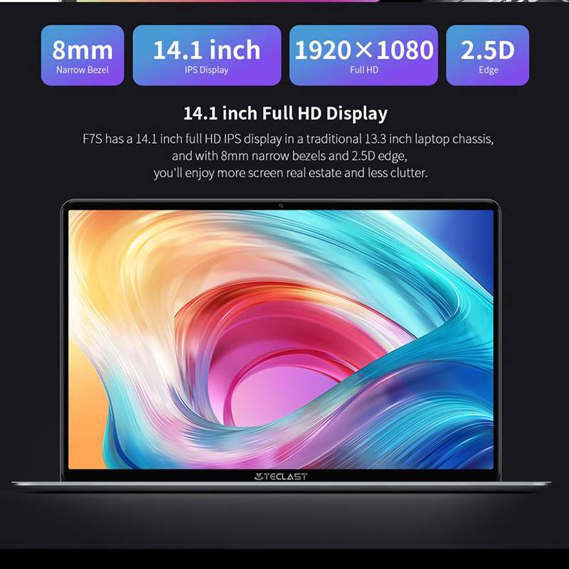 cheapest Teclast F7S Laptop 14 1inch Full HD 1920x1080 IPS Notebook 8GB RAM 128GB EMMC Laptops Bluetooth Wifi Apollo Lake N3350 Computer