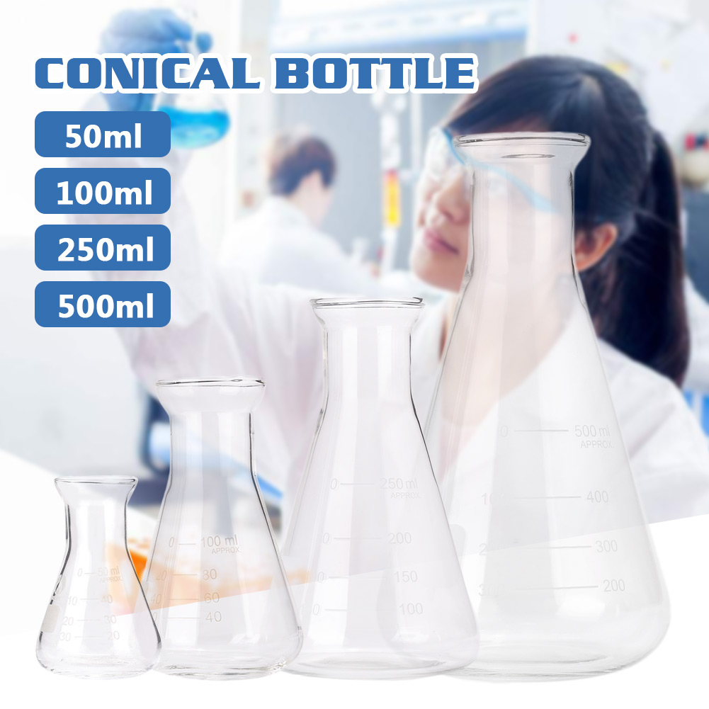 50ml-500ml Borosilicate Glass Beaker Furniture Wine Container Cheap Erlenmeyer Kitchen Useful Quantitative Analysis image