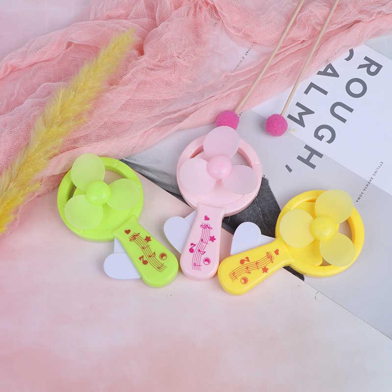 Mini Cooling Interessante Palm druk Mini Fan Snoep kleuren Leuke Speelgoed Kinderen Speelgoed Verjaardagscadeau