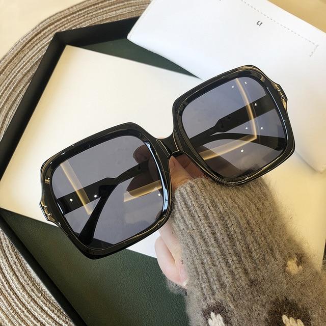 Vintage Oversize Square Sunglasses Women Luxury Brand Big Frame Women Sun Glasses Black Fashion Gradient Female Glasses Oculos 2