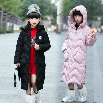 Girls Winter Jackets Baby Outdoor Warm Clothing Thick Coats Windproof Children's Cotton Jackets Kids Winter Hooded Outerwear