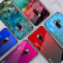 Gradient Crack Glass Phone Case For Samsung Galaxy S9 S10 Plus A70 A50 A30 A20 Note 9 10 Fashion Marble Rainbow Protective Cover