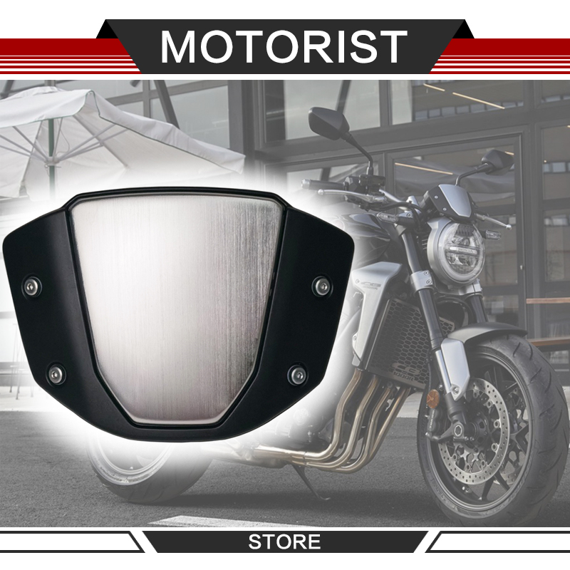Wind deflector For cb1000r CB 1000R <font><b>2018</b></font> 2019 Black Motorcycle Windshield WindScreen image