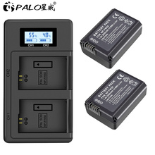 PALO 2pcs 2000mAh NP-FW50 NP FW50 Camera Battery + LCD USB Dual Charger for Sony Alpha a6500 a6300 a6000 a5000 a3000 NEX-3 a7R