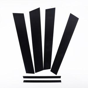 Image 2 - 6 adet araba pencere Pillar mesajları kapak Trim siyah ayna etkisi Honda Civic 2006 2011 için otomatik pencere ayağı direkleri kapak Trim
