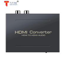 Tjtak 1080P HDMI Audio Extractor HDMI to HDMI+Optical Toslink SPDIF + RCA L/R Stereo Analog Audio Out HDMI Converter Splitter