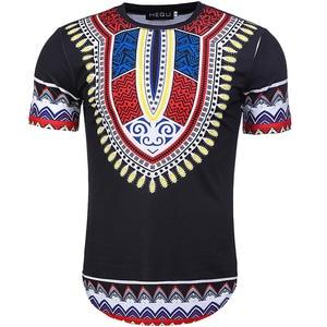Image 2 - Camiseta Dashiki con estampado de estilo africano para hombre, camiseta de manga corta con cuello redondo, camiseta ajustada informal para Festival, 2020