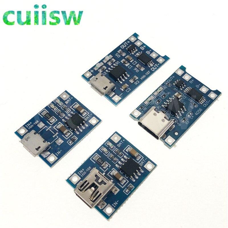 5 шт., type-c / Micro USB, 5 В, 1 А, Mini 18650 TP4056