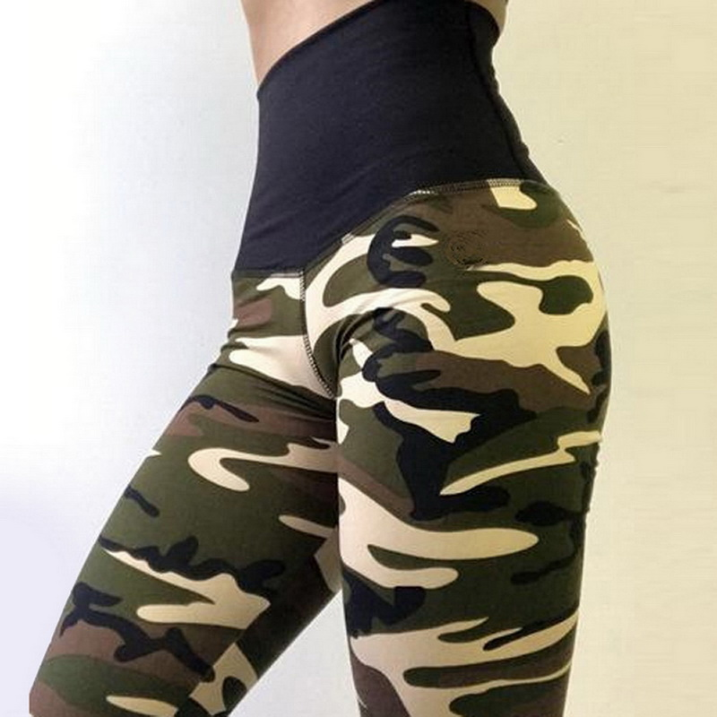 2019 New Fashion Camouflage Slim Pants Sports Fitness High Waist Women's New Pants Workout Gym Leggings Fitness Hip Pants