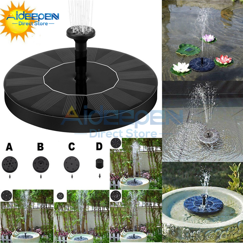 Round Solar Fountain Floating Water Fountain Fontaine For Garden Pond Fish Tank Decoration Solar Fontein Pool Pond Waterfall