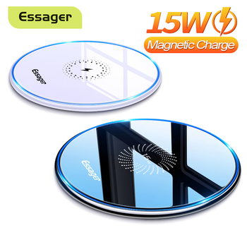Essager 15W Qi Magnetic Wireless Charger For iPhone 12 11 Pro Xs Max X Induction Fast Wireless Charging Pad For Samsung Xiaomi 1