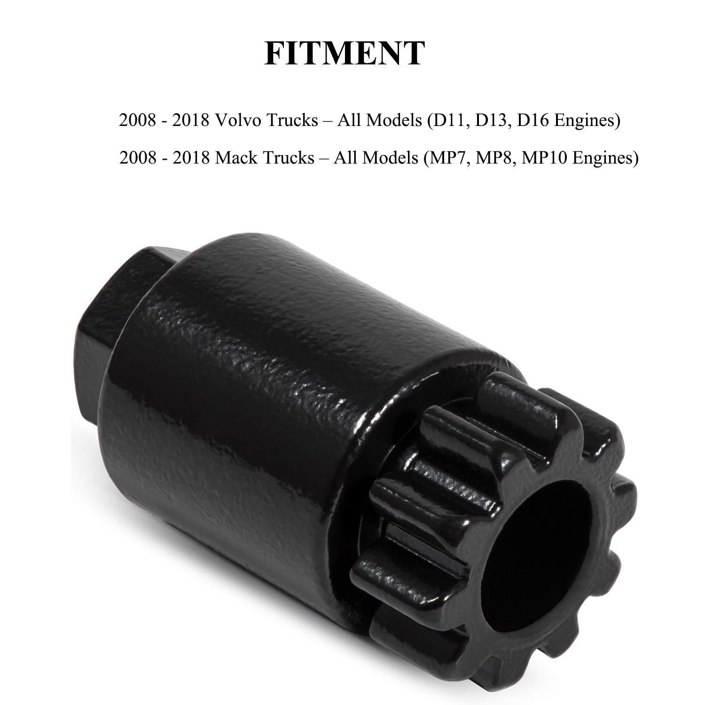 External O-Ring for Volvo//Mack D12//D13 Injector Kit Set of 6