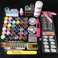 COSCELIA Kit per unghie in acrilico Kit di estensione per unghie con lucidatore tutto per Manicure decorazioni per Nail Art Kit per unghie Set professionale
