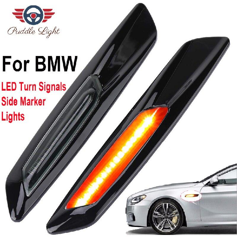 2Pcs For BMW F10 F11 E60 E61 E81 E82 E87 E88 E90 E91 E92 E93  X1 E84 X3 E83 LED Side Marker Light Turn Signal Lamp  Indicators