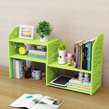 Cheap Bookcase Children Desktop Storage Shelf Simple Modern Telescopic Student Hollow Small Bookshelf