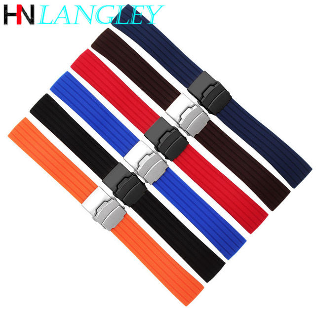 20mm 22mm Quick Release Silicone Watch Bands For Samsung Active 43mm 47mm for Fossil Watch Strap 18mm 24mm Rubber Sport Bands 4