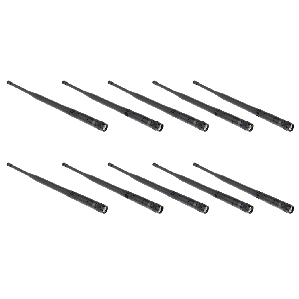 10 Pack Durable Plastic UHF Microphone Gain Antenna Mic Replacement Part Wireless