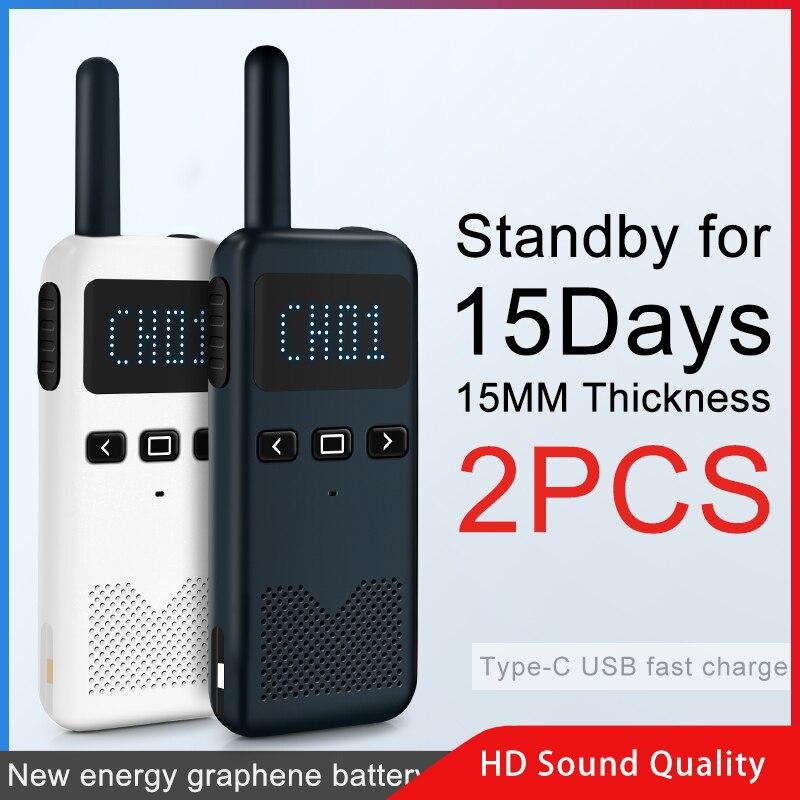 2 pièces KSUN KSM3 Civil kilomètre haute puissance interphone extérieur portable Mini talkie-walkie