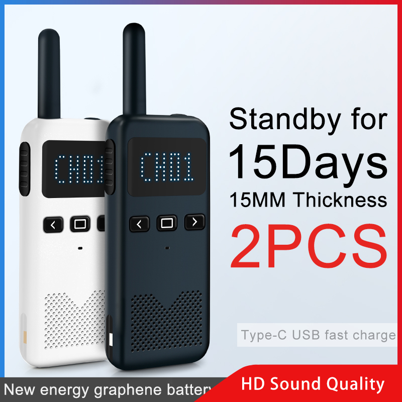 2PCS KSUN KSM3 Civil Kilometer High Power Intercom Outdoor Handheld  Mini Walkie Talkie