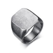 Signet-Ring Accessories Stainless-Steel Wedding-Band Plated Male Unique Boy Modyle Top-Seal