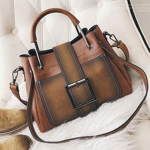 Bolsas de Ombro Crossbody para Mulheres Bolsa de Couro do Vintage Bolsas de Luxo Bolsas de Mão Mensageiro Fosco Bolsas Femininas Designer Senhoras Sac