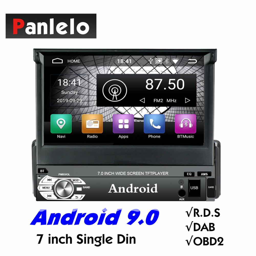 Panlelo T3 1 Din Android 9.0 Car Stereo Music Audio Player Android 7 inch Quad Core 1080HD GPS Navigation Audio Radio BT Call image