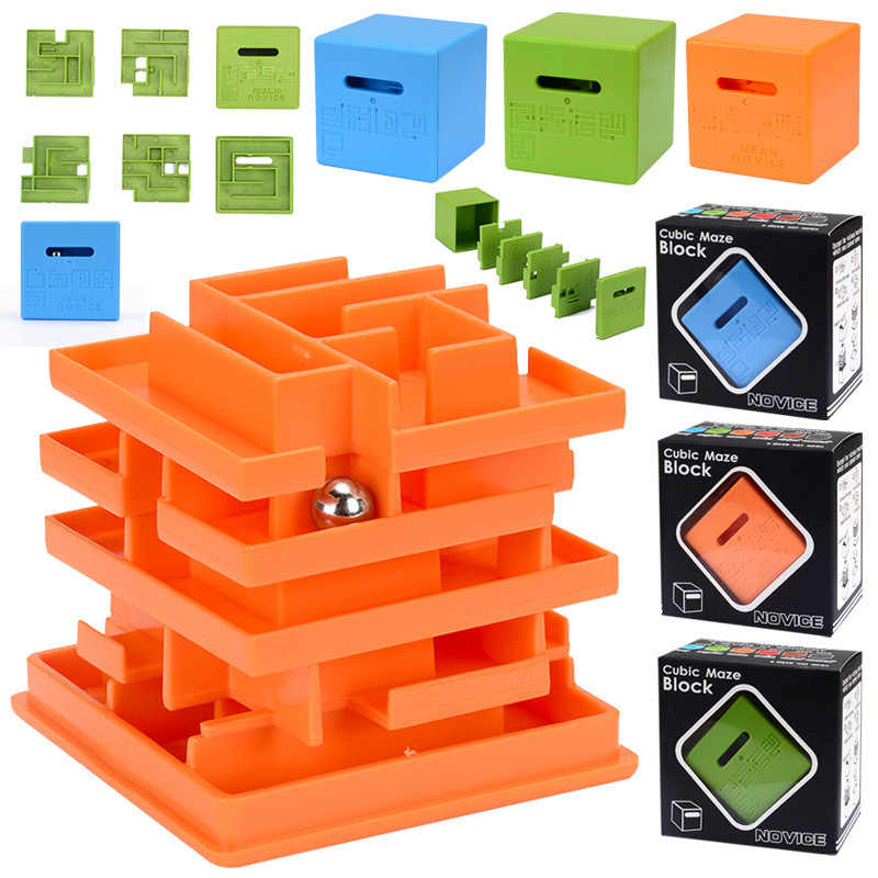3dキューブパズル迷路マジークマジックキューブおもちゃ木製無限大キューブストレスリリーバー玩具迷宮zabawki dla dzieciギフトアイデアEE50MF