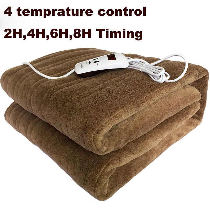 Washable Electric Blanket Double 220V Electric Heated Blanket Mat Single-control Dormitory Bedroom Heating Carpet