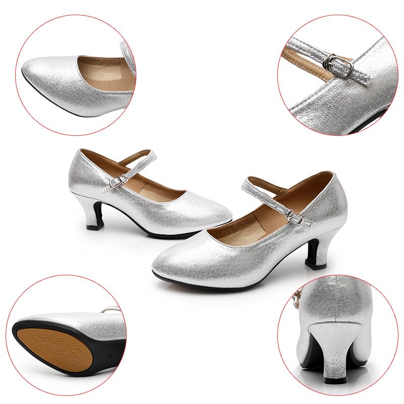 Hipposeus Women Latin Dance Shoes Modern Girls Ballroom Modern Samba Dancing shoes Ladies 3.5/5.5CM Salsa Sandals Dropshipping