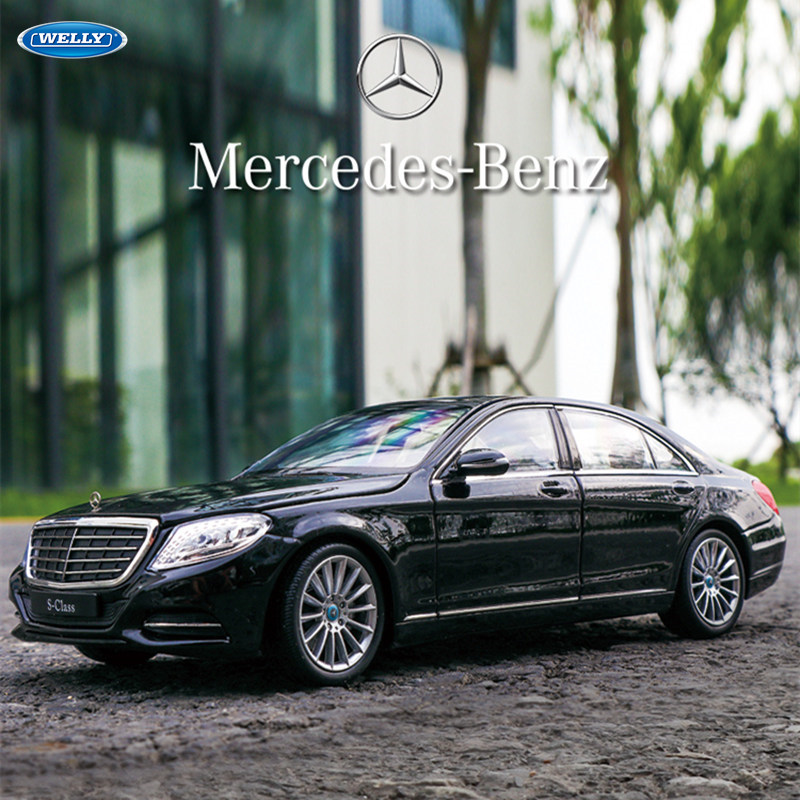 Welly 1:24  Mercedes Benz  S-CLASS S500 Car Alloy Car Model Simulation Car Decoration Collection Gift Toy Die Casting Model Boy