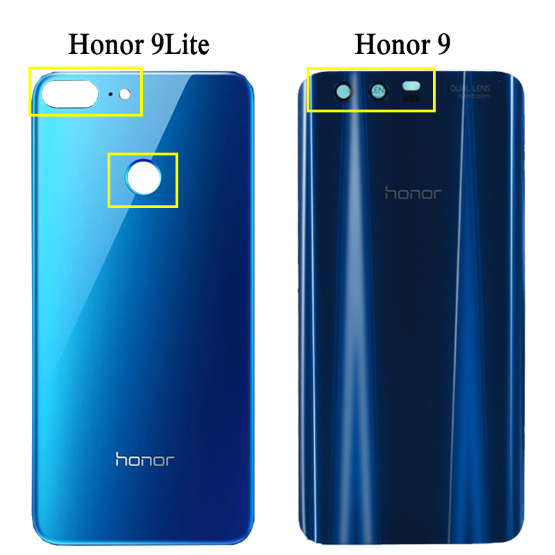 Задняя крышка батарейного отсека для Huawei honor 9, Задняя стеклянная крышка корпуса 5,15 дюйма для Huawei honor 9 Lite, Крышка батарейного отсека, корпус ...