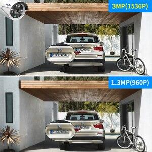 "Image 2 - Hiseeu All In One Met 12 ""Lcd Monitor Draadloze Bewakingscamera Home 8CH 3MP Nvr Kit 4 Stuks 1536P Outdoor Ip Camera H.265 +"