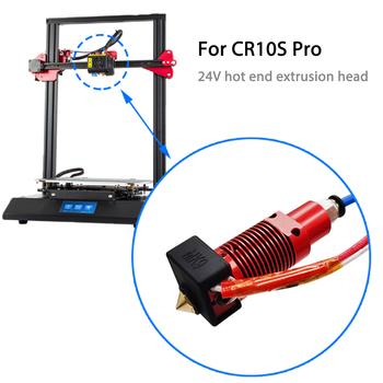 Części do drukarek 3D 24V ulepszona wersja 0 4mm 1 75mm Hotend Extrude gorący koniec zestaw do drukarek 3d CR-10S Pro akcesoria tanie i dobre opinie tmddotda CN (pochodzenie) Other