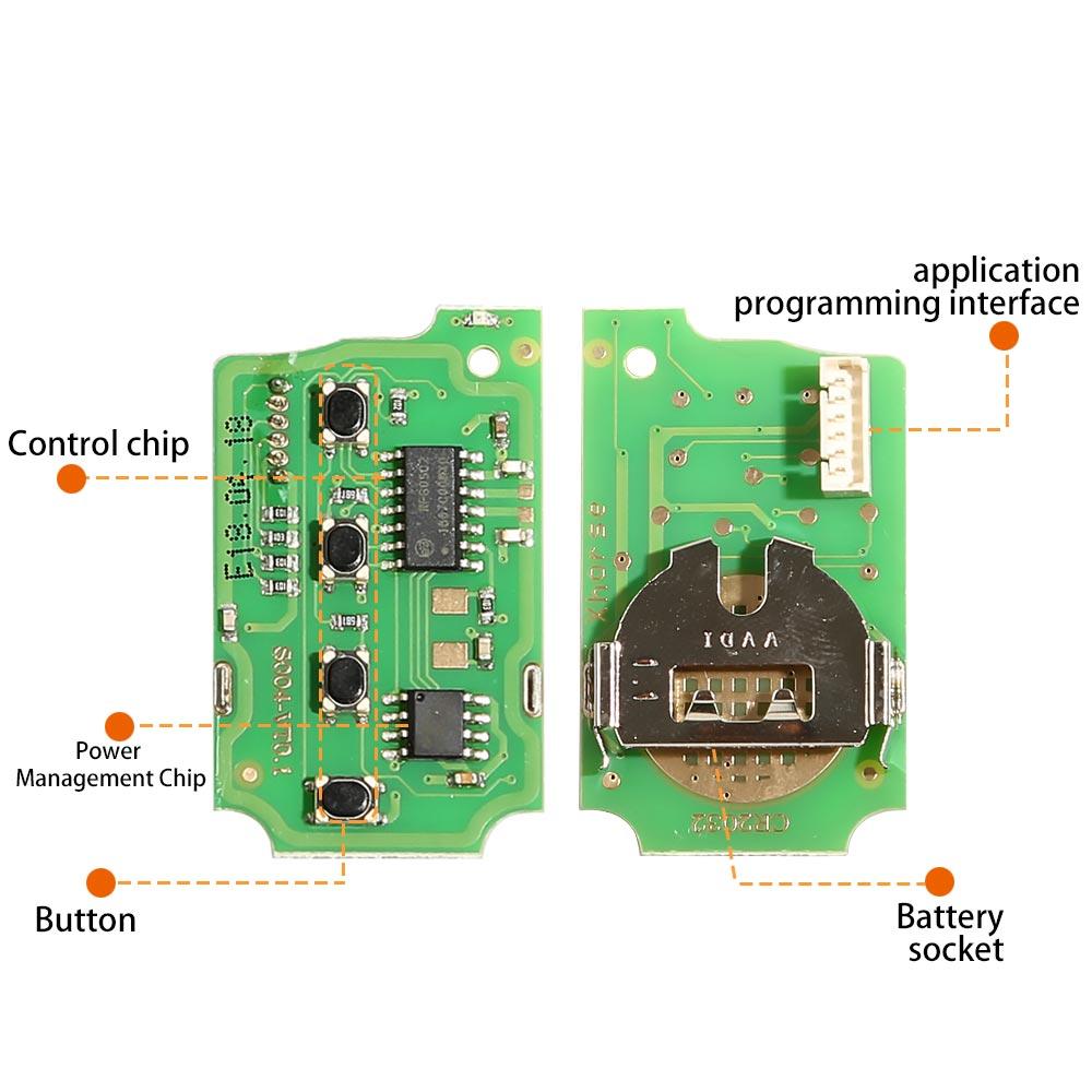 Пульт дистанционного управления Xhorse для Honda Flip 2 + 1, английская версия xjo02en, 1 шт.-1