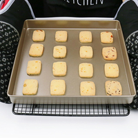 Square Baking Pan Non-sticky Aluminum Alloy Baking Tray Cake Mould  28*3CM 1x