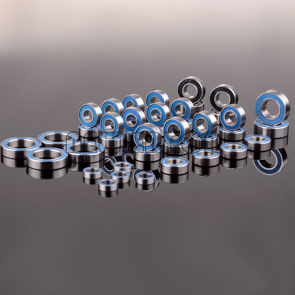NEW ENRON Blue Ball Bearing Metric Rubber Sealed 43PCS RC Car FIT FOR Traxxas Summit KIT Bearing-12