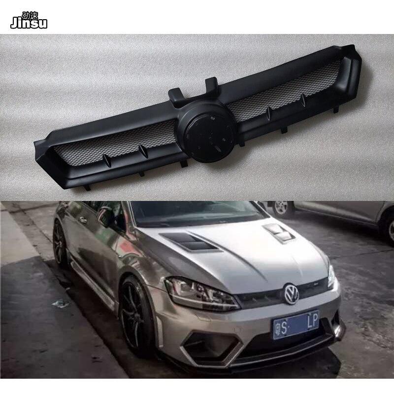 Aspec stile fibra di vetro presa d'aria anteriore griglia Per Il VW Golf 7 linea R GTI MK7 2013 - 2016 UN styling FRP nero opaco primer grill