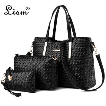 2020 Brand Women's Luxury Composite Shoulder Bags Ladies Handbags Clutches Bags Set 3 High Quality Sac A Main Femme De Marque