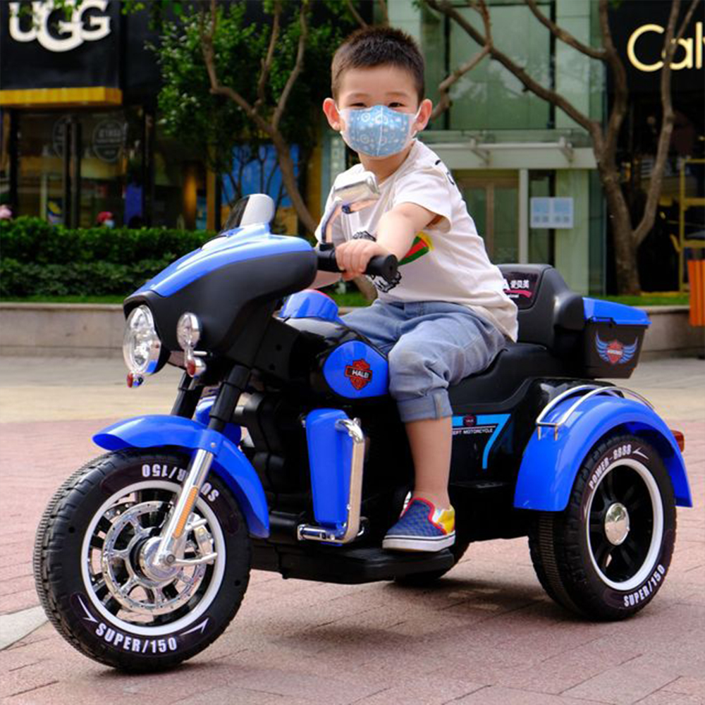 Electric Children Cars Electric Motorcycle Tricycle Baby Boy And Girl .battery .double Drive. Can Sit Two People Fashionable And Attractive Packages