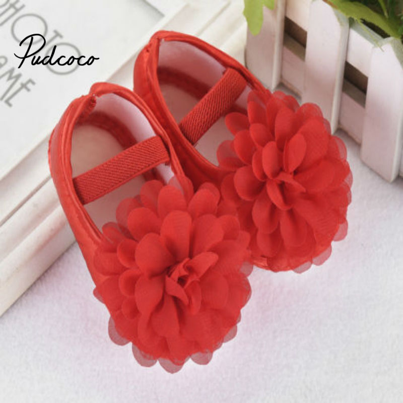 Pudcoco 2020 New In Fashion Hot Toddler Girl Crib Causal Shoes Newborn Princess Baby Floral Soft Sole Prewalker Sneakers Summer