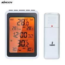 Kkmoon Outdoor Digitale Draadloze Thermometer Indoor Kamer Temperatuur Monitor Tot 328ft Weg Met Tijd Wekker Backlight