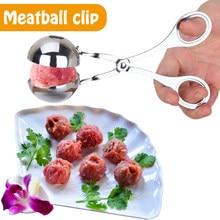 Machine à boulettes de viande en acier inoxydable, antiadhésif, pratique, boulettes de viande de poisson, outil de Cuisine, Clip alimentaire