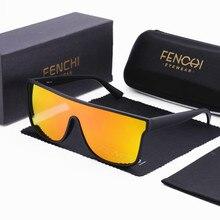 FENCHI yeni büyük boy erkek güneş gözlüğü kadın marka sürüş kadın gözlük moda tonları gözlük Zonnebril Dames Oculos Femin