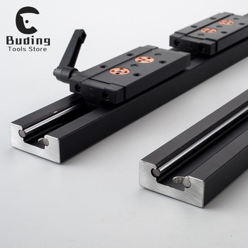 SGR15 SGR20 SGR25 SGR30 3/4/5 Wheel With Lock Slide Block 500mm 1000mm Customizable Guide Rail Slider Linear Actuator Square
