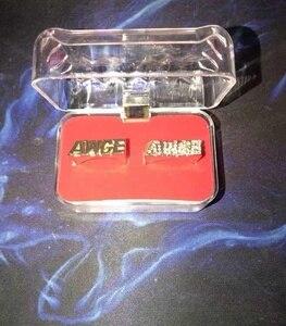 Image 2 - Moveon 힙합 AWGE 링 편지 라이트 부드러운 트렌드 남자 라운드 링 파티 선물을위한 록키 쥬얼리 Statement Simple Bijoux