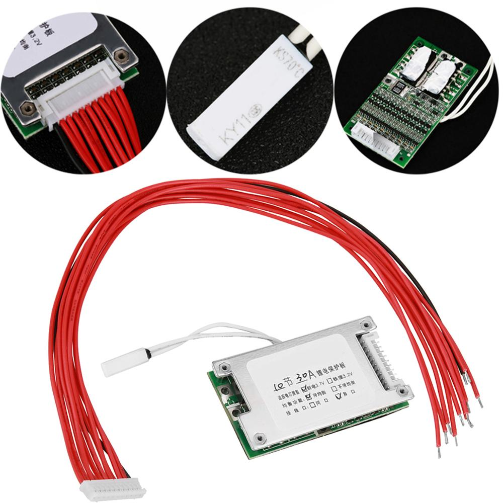 10S 36V 30A Battery Protection Plate Li-Ion 18650 Battery BMS Battery Protection Cable With Balance Function